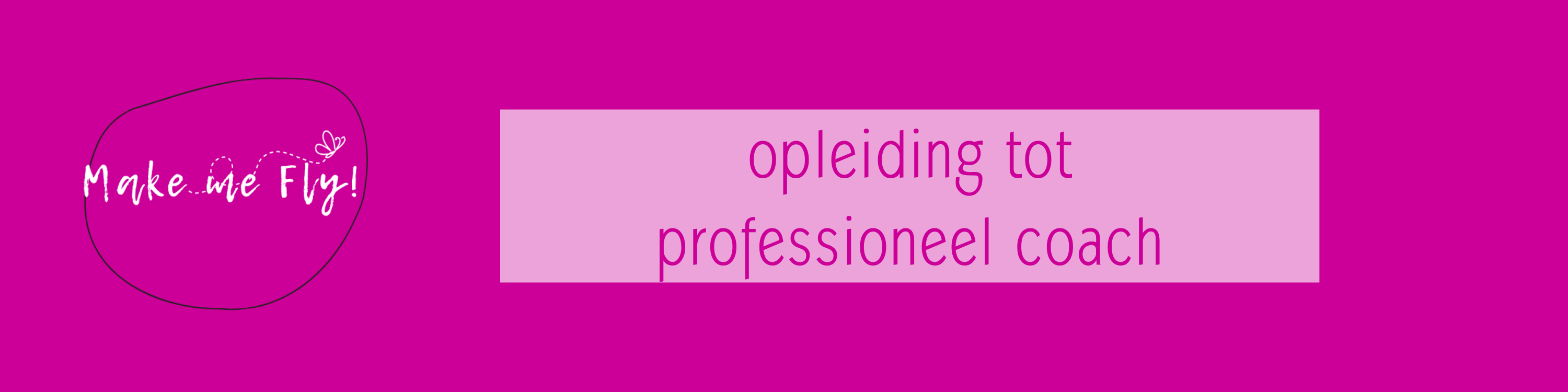 Make me Fly! opleiding tot professioneel coach banner